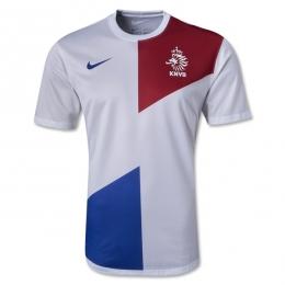 2013 Netherlands Away White Jersey Kit(Shirt+Short)