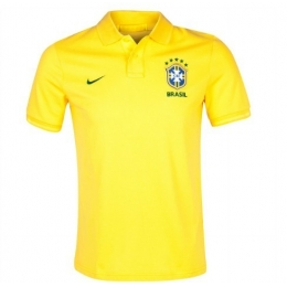 2013 Brazil Yellow Polo T-Shirt
