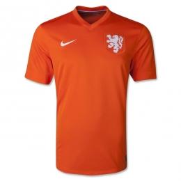 2014 Netherlands Home Orange Soccer Jersey Shirt