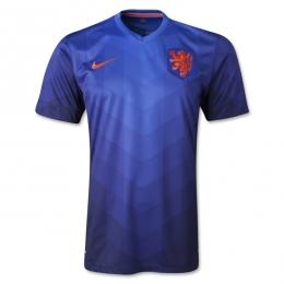 2014 Netherlands Away Blue Jersey Shirt