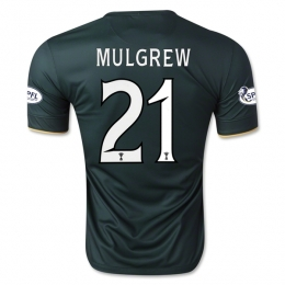 14-15 Celtic MULGREW #21 Away Deep Green Player Version Jersey Shirt