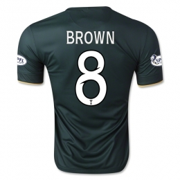 14-15 Celtic BROWN #8 Away Deep Green Player Version Jersey Shirt