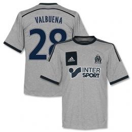 14-15 Marseilles Valbuena #28 Away Gray Jersey Shirt