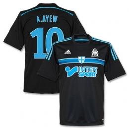 14-15 Marseilles A.Ayew #10 Away Black Jersey Shirt