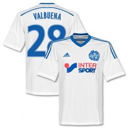 14-15 Marseilles Valbuena #28 Home White Jersey Shirt