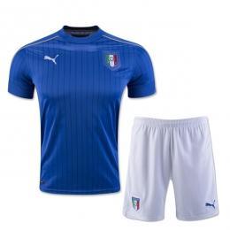 2016 Italy Home Blue Soccer Jersey Kit(Shirt+Short)