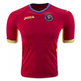 2016 Romania Away Red Soccer Jersey Shirt