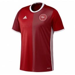 2016 Denmark Home Red Jersey Shirt