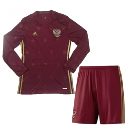 2016 Russia Home Red Long Sleeve Jersey Kit(Shirt+Short)