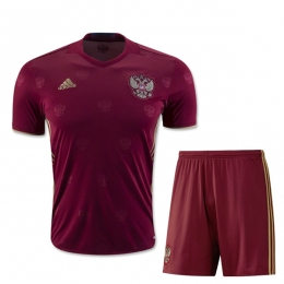 2016 Russia Home Red Soccer Jersey Kit(Shirt+Short)
