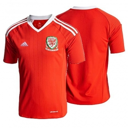 2016 Wales Home Red Soccer Jersey Shirt