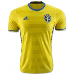 2016 Sweden Home Yellow Soccer Jersey Shirt