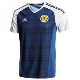 2016 Scotland Home Blue Soccer Jersey Shirt