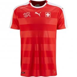 2016 Switzerland Home Red Jersey Shirt