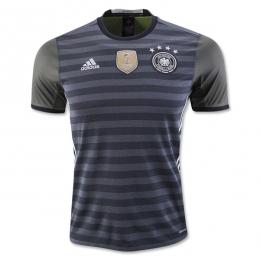 2016 Germany Away Black&Grey Jersey Shirt