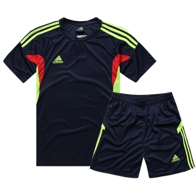 AD-501 Customize Team Navy Soccer Jersey Kit(Shirt+Short)