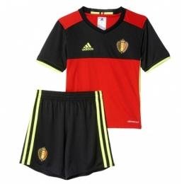 2016 Belgium Home Red Children's Jersey Kit(Shirt+Short)