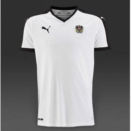 2016 Austria Away White Soccer Jersey Shirt