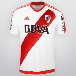16-17 River Plate Home White Jersey Shirt