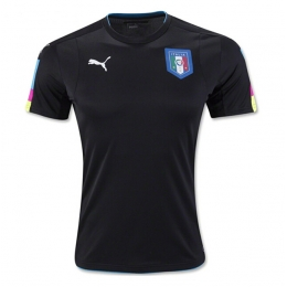 2016 Italy Goalkeeper Black Jersey Shirt