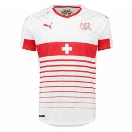 2016 Switzerland Away White Jersey Shirt