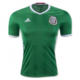 2016 Mexico Home Green Soccer Jersey Shirt