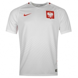 2016 Poland Home White Soccer Jersey Shirt