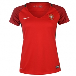 2016 Portugal Home Red Women's Jersey Shirt