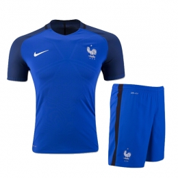 2016 France Home Blue Jersey Kit(Shirt+Short)