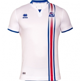 2016 Iceland Away White Soccer Jersey Shirt