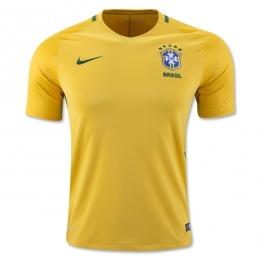 2016 Brazil Home Yellow Jersey Shirt