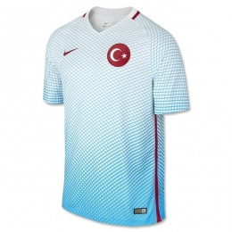 2016 Turkey Away Blue Soccer Jersey Shirt