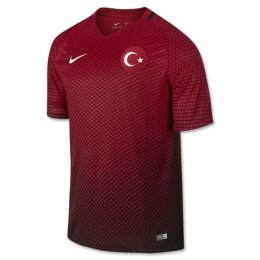 2016 Turkey Home Red Soccer Jersey Shirt