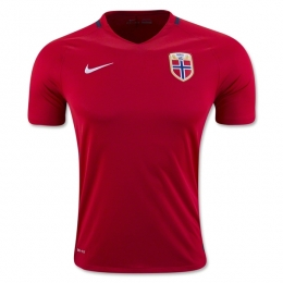 2016 Norway Home Red Soccer Jersey Shirt