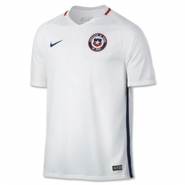 2016 Chile Away White Soccer Jersey Shirt