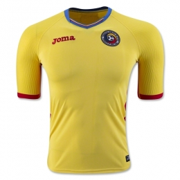 2016 Romania Home Yellow Soccer Jersey Shirt