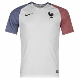 2016 France Away White Soccer Jersey Shirt