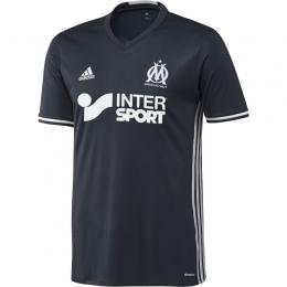 16-17 Marseille Away Navy Soccer Jersey Shirt