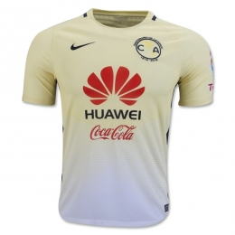 16-17 Club America Home Yellow Soccer Jersey Shirt