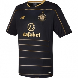 16-17 Celtic Away Black Soccer Jersey Shirt