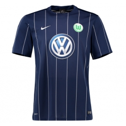 16-17 Wolfsburg Third Away Navy Soccer Jersey Shirt