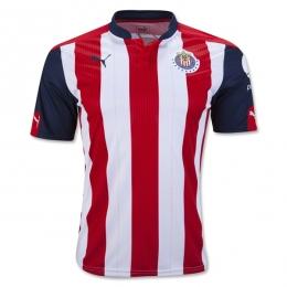 16-17 Deportivo Guadalajara Red&White Home Jersey Shirt