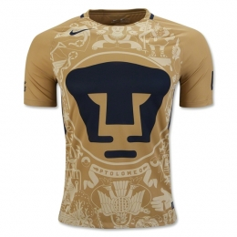 16-17 UNAM Pumas Home Golden Jersey Shirt