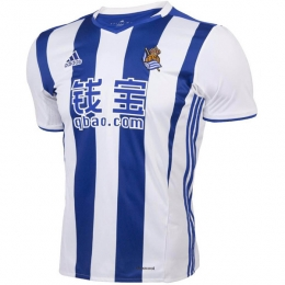 16-17 Real Sociedad Home Soccer Jersey Shirt