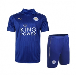 16-17 Leicester City Home Blue Jersey Kit(Shirt+Short)