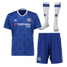16-17 Chelsea Home Children's Jersey Whole Kit(Shirt+Short+Sock)