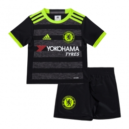 16-17 Chelsea Away Black Childrens Jersey Kit(Shirt+Short)