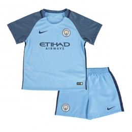 16-17 Manchester City Home Children's Jersey Kit(Shirt+Short)