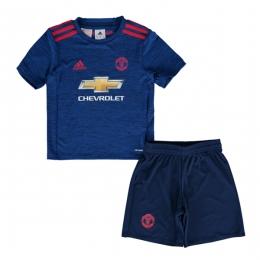 16-17 Manchester United Away Blue Children's Jersey Kit(Shirt+Short)