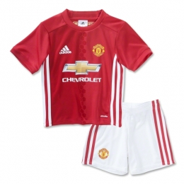 16-17 Manchester United Home Children's Jersey Kit(Shirt+Short)
